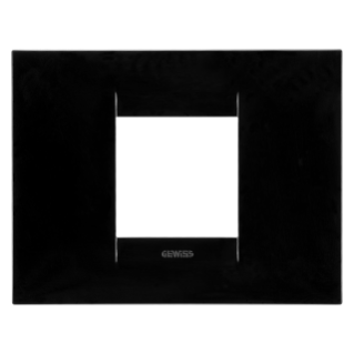 GEO PLATE - IN TECHNOPOLYMER - 2 GANG -  TONER BLACK - CHORUS