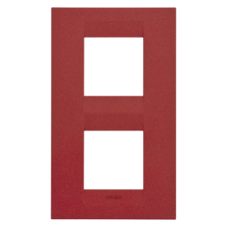 GEO INTERNATIONAL PLATE - IN PAINTED TECHNOPOLYMER - 2+2 GANG VERTICAL - RUBY- CHORUS