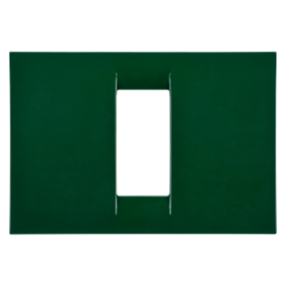VIRNA PLATE - IN TECHNOPOLYMER GLOSS FINISHING - 1 GANG - RACING GREEN - SYSTEM