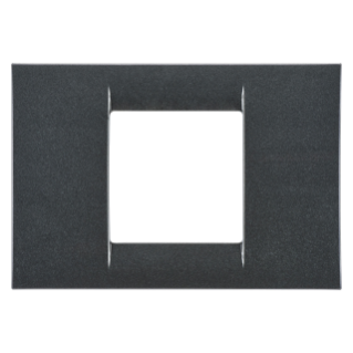 VIRNA PLATE - IN TECHNOPOLYMER GLOSS FINISHING - 2 GANG - METALLIC SLATE - SYSTEM