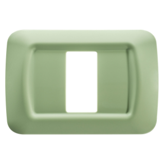 TOP SYSTEM PLATE - IN TECHNOPOLYMER GLOSS FINISHING - 1 GANG - VENETIAN GREEN - SYSTEM
