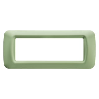 TOP SYSTEM PLATE - IN TECHNOPOLYMER GLOSS FINISHING - 6 GANG - VENETIAN GREEN - SYSTEM