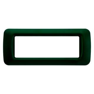 TOP SYSTEM PLATE - IN TECHNOPOLYMER GLOSS FINISHING - 6 GANG - RACING GREEN - SYSTEM