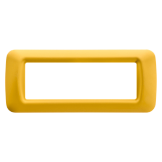 TOP SYSTEM PLATE - IN TECHNOPOLYMER GLOSS FINISHING - 6 GANG - CORN YELLOW - SYSTEM