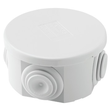 Junction boxes with plain press-on lid - IP44 - Grey RAL 7035