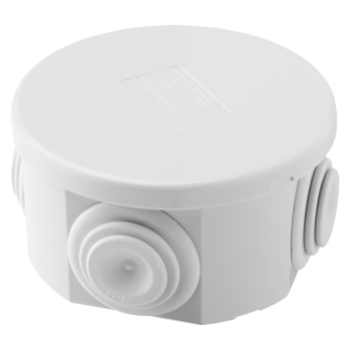 JUNCTION BOX WITH PLAIN PRESS-ON LID - IP44 - INTERNAL DIMENSIONS Ø 80X40 - WALLS WITH CABLE GLANDS - GWT960ºC - GREY RAL 7035