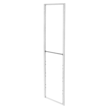 Modular metal frames for fixing front configuration elements white RAL 9003