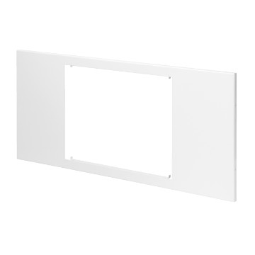 Metal panel with windows for the installation of home and building automation devices - white RAL 9003