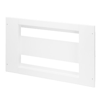 Underdoor panel with windows in white metal RAL 9003