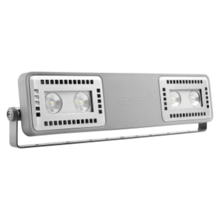 SMART [4] 2.0 FL - 2+2 LED - DIFFUSED 100° - STAND ALONE - 3000 K (CRI 80) - 220/240 V 50/60 Hz - IP66 - CLAS I - GREY RAL 7037