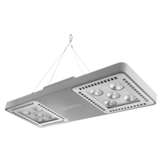 SMART [4] 2.0 HB - 5+5 LED - DIFFUSED 100° - STAND ALONE - 4000 K (CRI 80) - 220/240 V 50/60 Hz - IP66 - CLAS I - GREY RAL 7037