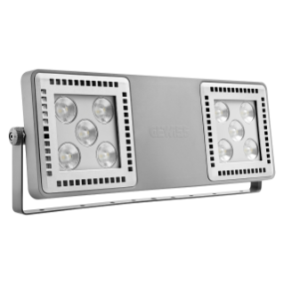 SMART [4] 2.0 FL - 5+5 LED - CONCENTRANTE 30° - STAND ALONE - 4000 K (CRI 80) - 220/240 V 50/60 Hz - IP66 - CLASSE I - GRIGIO RAL 7037