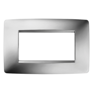 ONE PLATE - IN METALLISED TECHNOPOLYMER - 4 GANG - CHROME - CHORUS
