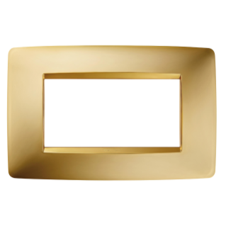 ONE PLATE - IN METALLISED TECHNOPOLYMER - 4 GANG - GOLD - CHORUS