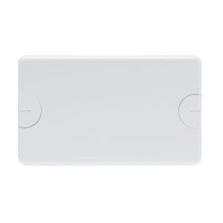 BLANK PLATE FOR RETTANGOLARI FLUSH-MOUNTING BOXES - 6 GANG (3+3 OVERLAPPING) - WITH SCREW - CLOUD WHITE