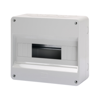 ENCLOSURE PRE-ARRANGED FPR TERMINAL BLOCK - WITH DOOR - WALLS WITH PERFORATION CENTER - 12+1 MODULES - IP40