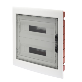 DISTRIBUTION BOARD - PANEL WITH WINDOW AND EXTRACTABLE FRAME - SMOKED DOOR - TERMINAL BLOCK N 2X[(3X16)+(17X10)] E 2X[(3X16)+(17X10)]-(18X2) 36M-IP40