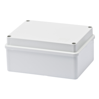 JUNCTION BOX WITH PLAIN SCREWED LID - IP56 - INTERNAL DIMENSIONS 150X110X70 - SMOOTH WALLS - GWT960ºC - GREY RAL 7035