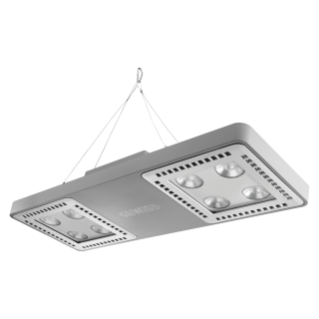 SMART [4] 2.1 HLO - 4+4 LED - DIFFUSED 100° - STAND ALONE - 4000 K (CRI 80) - 220/240 V 50/60 Hz - IP66 - CLAS I - GREY RAL 7037