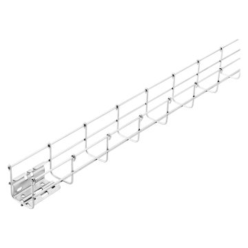 Wire mesh trunking with pre-mounted couplers - 3 metres - Height 60