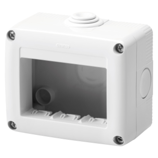 PROTECTED ENCLOSURE FOR SYSTEM DEVICES -  3 GANG - RAL 7035 GREY - IP40