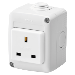 PROTECTED ENCLOSURE COMPLETE WITH SYSTEM DEVICES - WITH SOCKET-OUTLET 2P+E 13 A - BRITISH STANDARD - IP40 - RGREY RAL 7035