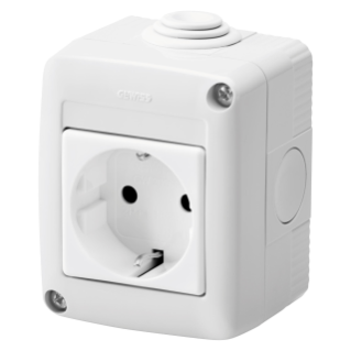 PROTECTED ENCLOSURE COMPLETE WITH SYSTEM DEVICES - WITH SOCKET-OUTLET 2P+E 16 A - GERMAN STANDARD - IP40 - GREY RAL 7035