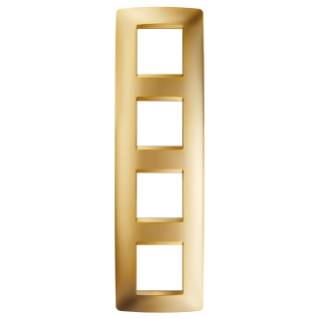 ONE INTERNATIONAL PLATE - IN METALLISED TECHNOPOLYMER - 2+2+2+2 GANG VERTICAL - GOLD - CHORUS