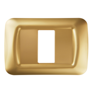 TOP SYSTEM PLATE - IN TECHNOPOLYMER GLOSS FINISH - 1 GANG - ANTIQUE GOLD - SYSTEM
