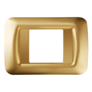 TOP SYSTEM PLATE - IN TECHNOPOLYMER GLOSS FINISH - 2 GANG - ANTIQUE GOLD - SYSTEM