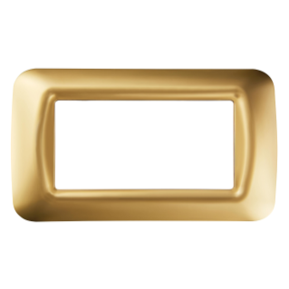 TOP SYSTEM PLATE - IN TECHNOPOLYMER GLOSS FINISH - 4 GANG - ANTIQUE GOLD - SYSTEM