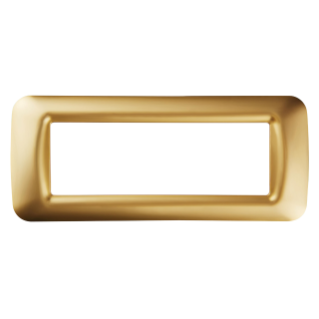 TOP SYSTEM PLATE - IN TECHNOPOLYMER GLOSS FINISH - 6 GANG - ANTIQUE GOLD - SYSTEM