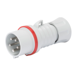STRAIGHT PLUG HP - IP44/IP54 - 3P+E 16A 380-415V 50/60HZ - RED - 6H - SCREW WIRING