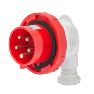 90° PLUG - IP67 - 3P+N+E 16A 380-415V 50/60HZ - RED - 6H - SCREW WIRING
