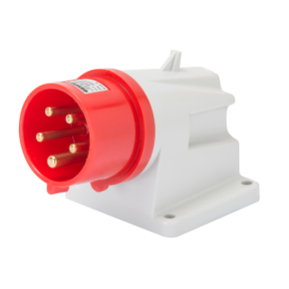 90° ANGLED SURFACE MOUNTING INLET - IP44 - 3P+N+E 16A 380-415V 50/60HZ - RED - 6H - SCREW WIRING