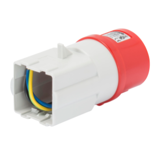 SYSTEM ADAPTOR - FROM INDUSTRIAL TO DOMESTIC - SOCKET-OUTLET 3P+N+E 16A 400V ac 50/60HZ - FITTING FOR 2 MODULE SYSTEM RANGE