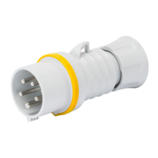 STRAIGHT PLUG HP - IP44/IP54 - 2P+E 32A 100-130V 50/60HZ - YELLOW - 4H - SCREW WIRING