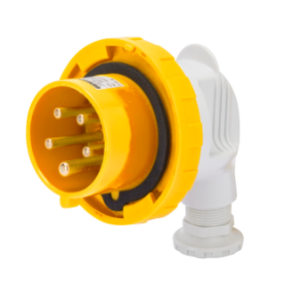 90° PLUG - IP67 - 3P+E 16A 100-130V 50/60HZ - YELLOW - 4H - SCREW WIRING