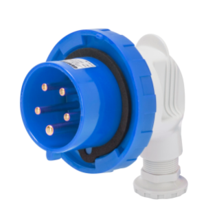 90° PLUG - IP67 - 2P+E 32A 200-250V 50/60HZ - BLUE - 6H - SCREW WIRING