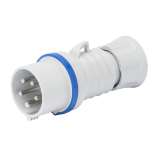 STRAIGHT PLUG HP - IP44/IP54 - 3P+N+E 16A 200-250V 50/60HZ - BLUE - 9H - SCREW WIRING