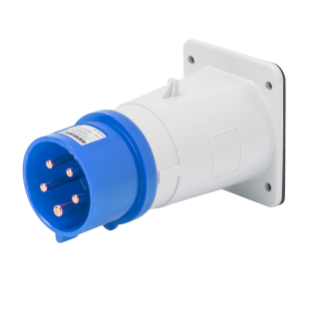 STRAIGHT FLUSH MOUNTING INLET - IP44 - 3P+N+E 32A 200-250V 50/60HZ - BLUE - 9H - SCREW WIRING