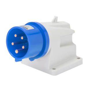 90° ANGLED SURFACE MOUNTING INLET - IP44 - 3P+E 16A 200-250V 50/60HZ - BLUE - 9H - SCREW WIRING