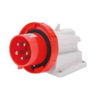 90° ANGLED SURFACE MOUNTING INLET - IP67 - 3P+N+E 32A 380-415V 50/60HZ - RED - 6H - SCREW WIRING