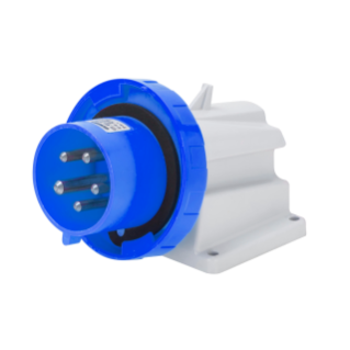 90° ANGLED SURFACE MOUNTING INLET - IP67 - 3P+N+E 32A 200-250V 50/60HZ - BLUE - 9H - SCREW WIRING