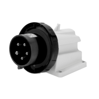 90° ANGLED SURFACE MOUNTING INLET - IP67 - 3P+N+E 32A 480-500V 50/60HZ - BLACK - 7H - SCREW WIRING