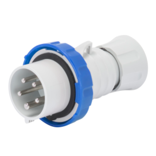 STRAIGHT PLUG HP - IP66/IP67/IP68/IP69 - 3P+E 32A 200-250V 50/60HZ - BLUE - 9H - SCREW WIRING