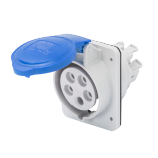 10° ANGLED FLUSH-MOUNTING SOCKET-OUTLET HP - IP44/IP54 - 3P+E 16A 200-250V 50/60HZ - BLUE - 9H - FAST WIRING