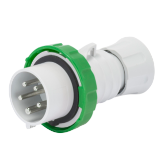 STRAIGHT PLUG HP - IP66/IP67/IP68/IP69 - 3P+E 16A >50V >300-500HZ - GREEN - 2H - SCREW WIRING