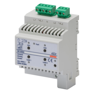 KNX UNIVERSAL DIMMER ACTUATOR - 1 CHANNEL - 300VA PER CHANNEL - 4 MODULES - DIN RAIL MOUNTING
