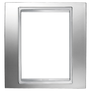 LUX PLATE - BRITISH STANDARD - METALLISED TECHNOPOLYMER - 1 GANG  - CHROME - CHORUS